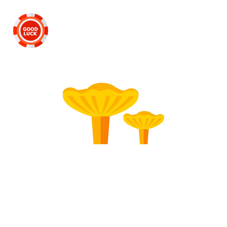 Chanterelle mushroom. Gathering, tasty, forest. Mushroom concept. Can be used for topics like forestry, cooking, biology, agriculture. Illustration