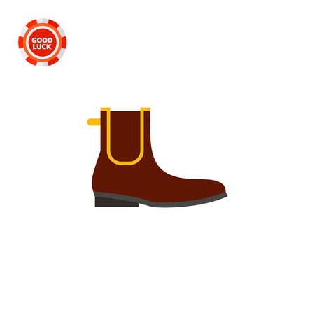 footwear: Chelsea boot. Man, leather, classic. Footwear concept. Can be used for topics like footwear, history, fashion.