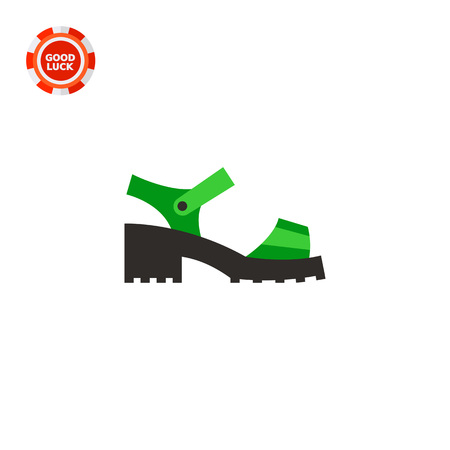 chunky: Chunky sandal. Woman, stylish, platform. Summer footwear concept. Can be used for topics like footwear, marketing, fashion.