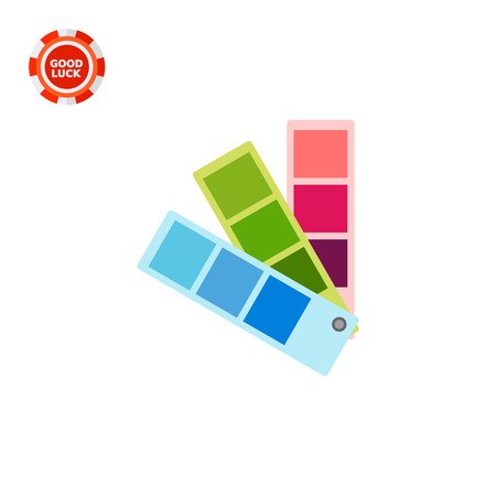 color swatch: Color swatch fan. Taste, option, creative. Color concept. Can be used for topics like art, design, marketing.