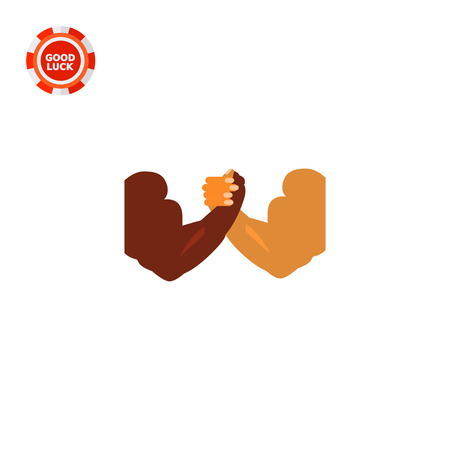 competitions: Arm-wrestling muscular hands. Struggle, competition, strength. Arm-wrestling concept. Can be used for topics like sport, training, competitions.