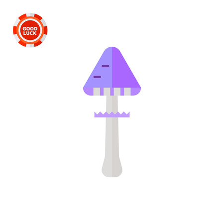 Death cup. Dangerous, toadstool, forest. Mushroom concept. Can be used for topics like forestry, agriculture, biology.