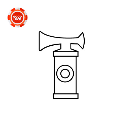 horn like: Sport fan horn. Match, sound, cheering. Fan concept. Can be used for topics like sport, entertainment, games.