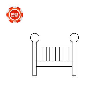 child sleeping: Illustration of baby bed. Child sleeping, night time, nursery. Baby bed concept. Can be used for topics like furniture, childhood, sleep Illustration