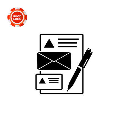 be the identity: Illustration of paper sheet, envelop, business card and pen. Brand identity, marketing, corporate style. Brand identity concept. Can be used for topics marketing, brand identity, promotion Illustration