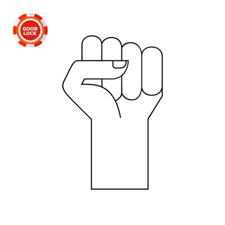 sociology: Mano con los dedos apretadas en el puño. La metáfora, ponche, protesta. La fuerza y ??el concepto de la unidad. Puede ser utilizado para temas como la sociología, negocios, marketing.