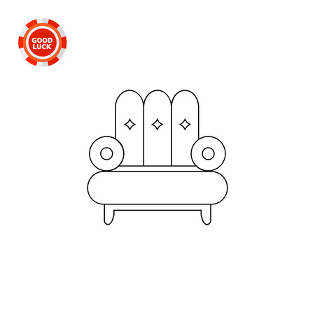 pieces of furniture: Comfortable armchair. Comfort, decorative, seat. Soft furniture concept. Can be used for topics like furniture, interior, fashion. Illustration