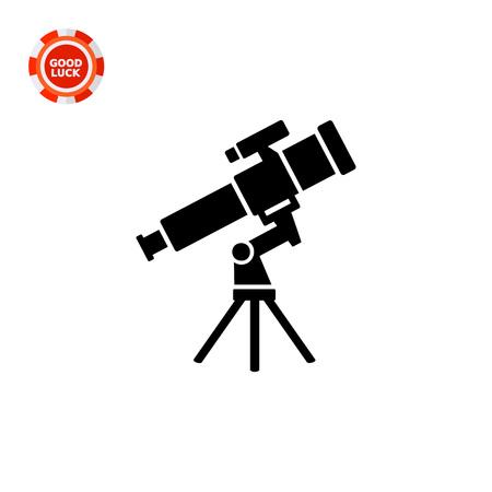Monochrome vecteur icône du télescope représentant concept de l'astronomie