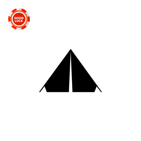 Triangle camp tent. Summer, shelter, portable. Camping concept. Can be used for topics like tourism, hiking, leisure. Illustration