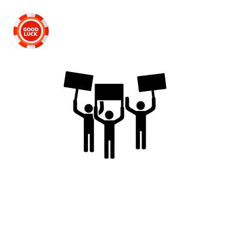 Monocromo simple icono de la gente en la demostración Ilustración de vector