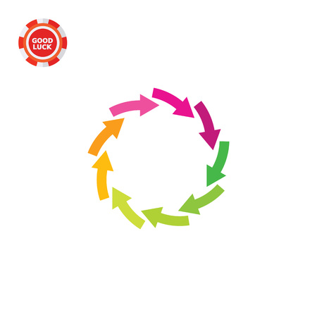 Illustration of circle arrows. Rotation, flow, circulation, direction. Process concept. Can be used for topics like process, presentation, direction