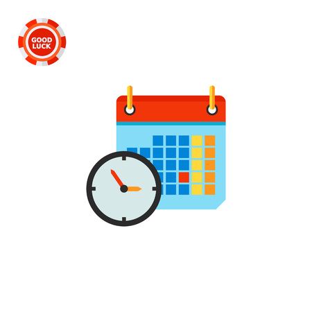 topics: Clock and calendar in background. Time, shedule, date. Calendar concept. Can be used for topics like business, management, finance, planning.