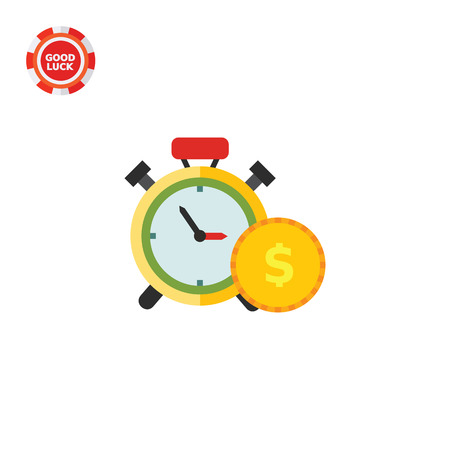 wealth management: Clock and coin. Wealth, management, profit. Money concept. Can be used for topics like finance, business, banking, marketing.