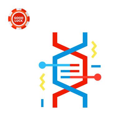 cromosoma: Ilustración de fragmento de ADN. Genetics, molécula, genoma, célula. Genética concepto. Puede ser utilizado para temas como el genoma, la ciencia, Anatome, el conocimiento