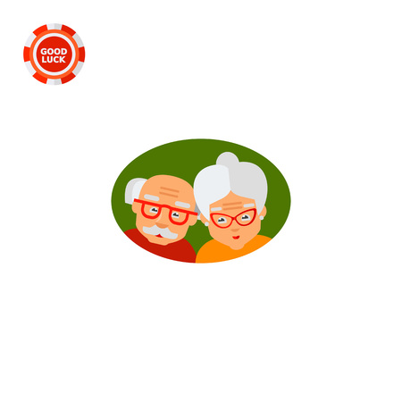 old age: Picture of elderly couple. Old age, grandparents, aging. Old age concept. Can be used for topics like old age, family, old people