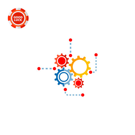 Illustration of gear wheels. Engineering, mechanism, technology, process. Engineering concept. Can be used for topics like engineering, technology, physics Illustration