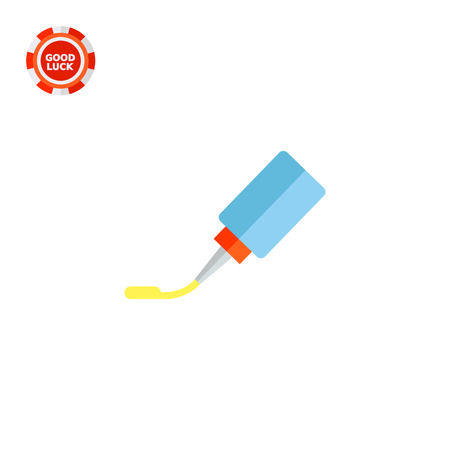 pva: Glue tube. Office, fixing, tool. Glue concept. Can be used for topics like stationery, business, marketing.