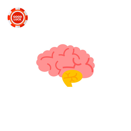 Brain. Human organ, nervous system, health care. Organ concept. Can be used for topics like disease, organs, anatomy, health care