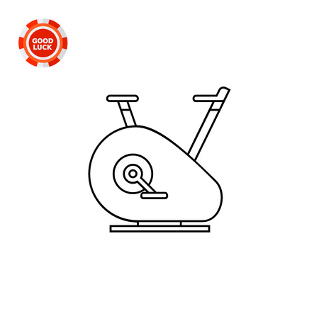 treadle: Fitness cycling bike. Training, gym, equipment. Fitness concept. Can be used for topics like sport, health, fitness. Illustration