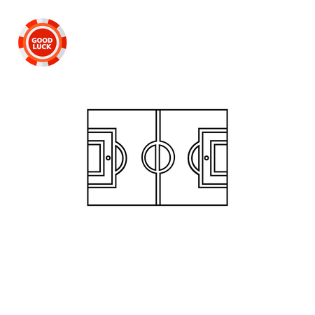 touchline: Football field plan. Training, soccer, game. Football concept. Can be used for topics like sport, health, football.