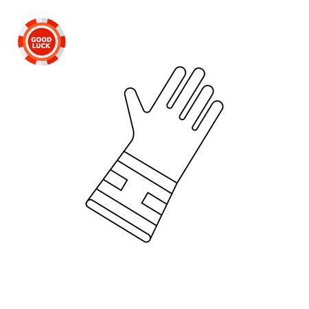 work glove: Special glove for gardening. Household, protection, work. Glove concept. Can be used for topics like gardening, agriculture, equipment. Illustration