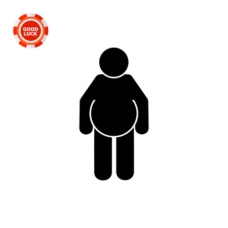 fatness: Fat person. Excess, disease, beer. Obesity concept. Can be used for topics like health, dieting, medicine. Illustration