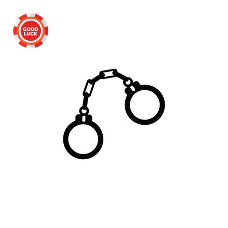 jurisprudence: Handcuffs. Arrest, guilt, crime. Detaining concept. Can be used for topics like jurisprudence, criminality, business.