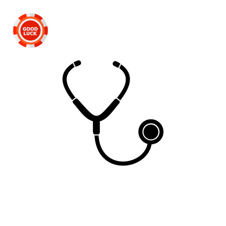 Doctors instrument used for auscultation. Stethoscope, lung, care. Auscultation concept. Can be used for topics like medicine, healthcare, health.