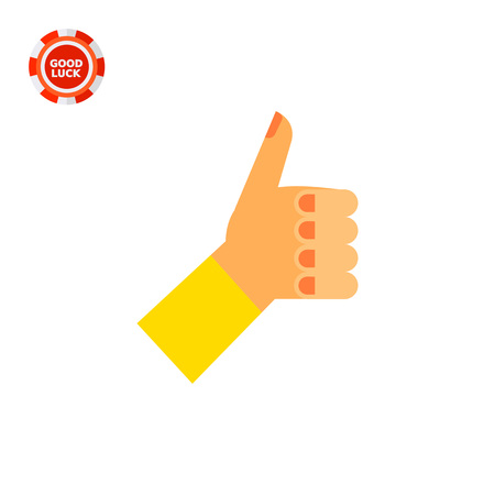 Left hand with thumb up. Showing, positive, nonverbal. Approval concept. Can be used for topics like gestures, nonverbal communication, management.