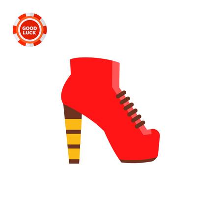 footwear: Lita shoe. Woman, trendy, closed. Footwear concept. Can be used for topics like footwear, marketing, fashion.