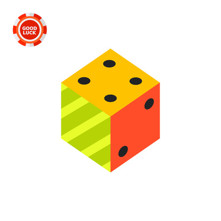 Illustration of 3d dice. Logic, science, education. Logic concept. Can be used for topics like education, science of logic, knowledge Illustration