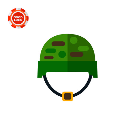 arming: Soldiers helmet. Military equipment, war, protection. Military helmet concept. Can be used for topics like war, military equipment, soldiery. Illustration
