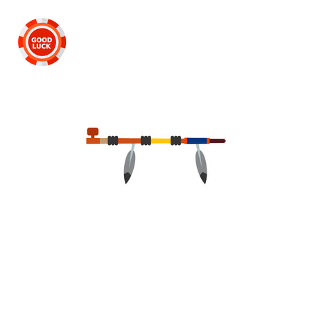 peace pipe: Traditional native American peace pipe. Ceremony, Indian, tobacco. Smoking concept. Can be used for topics like culture, history, marketing.