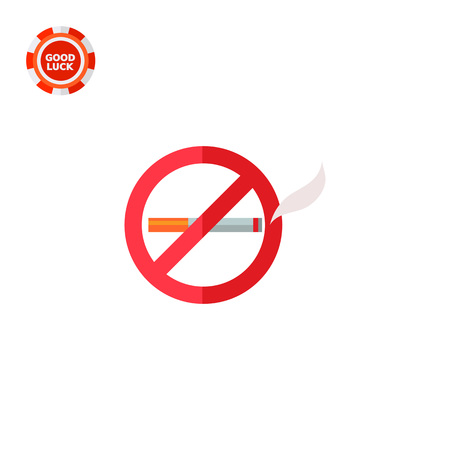 No smoking sign. Tobacco, addiction, prohibition. Smoking concept. Can be used for topics like smoking, health, business.