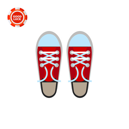 unisex: Pair of sneakers. Style, foot, unisex. Footwear concept. Can be used for topics like summer, vacation, sport.