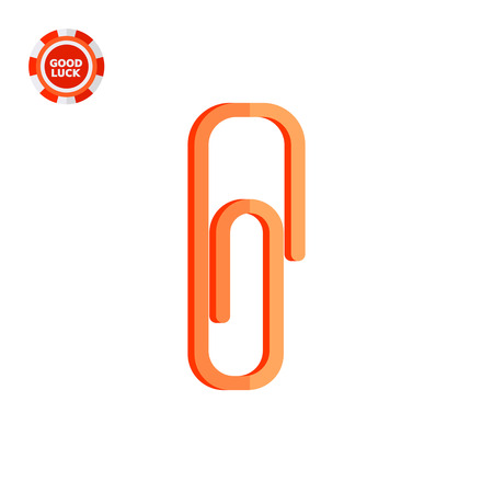 Paper clip. Office, metal, tool. Clip concept. Can be used for topics like stationery, business, marketing.
