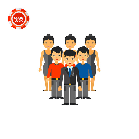 hierarchy: Group of people forming hierarchy. Stuff, structure, leadership. Team development concept. Can be used for topics like business, management, recruitment.