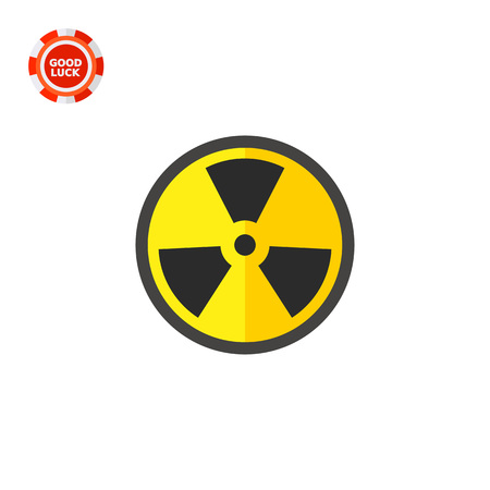 Black and yellow international radiation hazard symbol. Physics, radiation, waves, nuclear energy, danger. Radiation concept. Can be used for topics like radiation, physics, danger Illustration