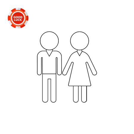 Illustration of male and female silhouettes. Man and woman, family, couple. Family concept. Can be used for topics like family, relationships, love