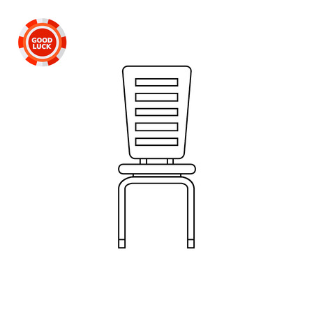pieces of furniture: Modern chair. Domestic, comfort, decorative. Seat concept. Can be used for topics like furniture, interior, fashion.