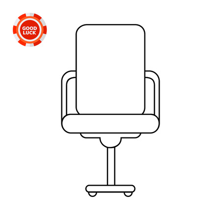 Swivel office chair with high back and armrests. Work, comfort, decorative. Seat concept. Can be used for topics like furniture, interior, fashion.