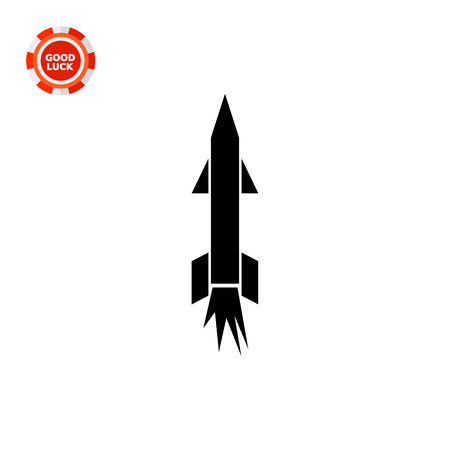 rocket bomb: Military missile. Bomb, dangerous, rocket. Weapon concept. Can be used for topics like technology, war, military science.