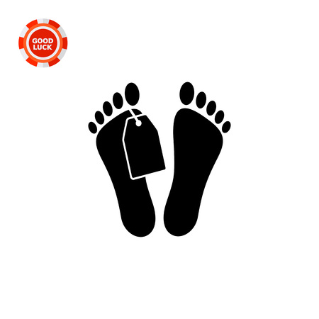 fatal: Mans feet with tag. Corpse, illness, death. Morgue concept. Can be used for topics like medicine, healthcare, anatomy.