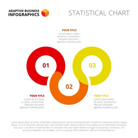 smoothed: Three step process chart. Element of presentation, circle diagram, brochure. Concept for infographics, business templates, reports. Can be used for topics like marketing analysis, strategy, planning