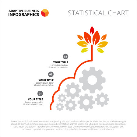 Process chart slide template. Business data. Graph, diagram, design. Creative concept for infographic, templates, presentation, marketing. Can be used for topics like management, strategy, teamwork. Ilustração
