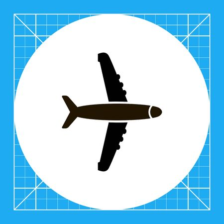 airplane: Airplane icon Illustration