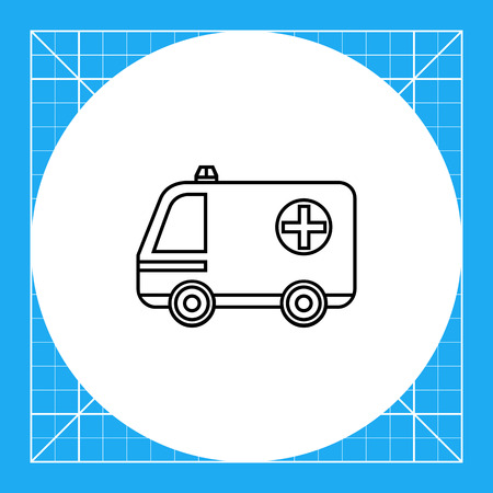 urgent care: Emergency ambulance car with cross sign. Care, urgent, service. Ambulance car concept. Can be used for topics like medicine, health, transport.