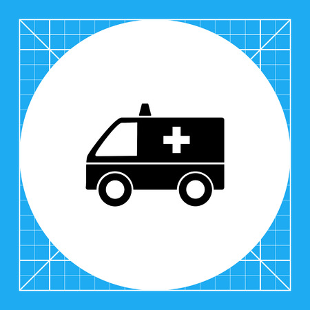 urgent care: Emergency ambulance car with cross sign. Urgent, transportation, care. Ambulance concept. Can be used for topics like medicine, health, transport.