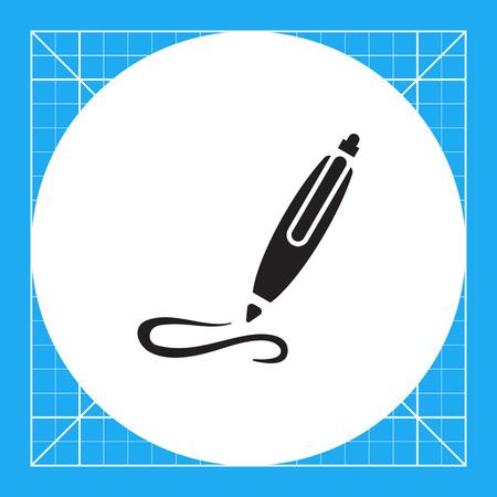 ball pens stationery: Icono de la escritura bolígrafo