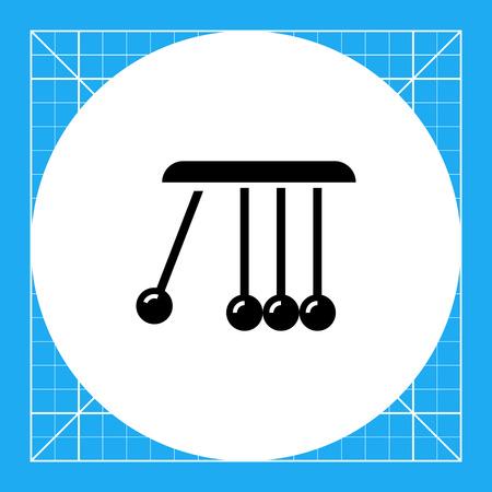 cradle: Vector icon of Newton cradle balancing balls